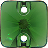 Swarovski 3201 Rivoli Square Sew-on Dark Moss Green 10mm