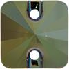 Swarovski 3201 Rivoli Square Sew-on Crystal Iridescent Green 10mm