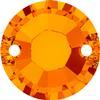 Swarovski 3204 Round Sew-on Tangerine 10mm