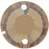 Swarovski 3204 Round Sew-on Crystal Golden Shadow 12mm