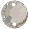 Swarovski 3204SP Round Sew-on Crystal Silver Shade 8mm