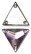 Swarovski 3270 Triangle Sew-on Crystal Vitrail Light 16mm