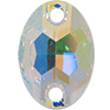 Swarovski 3210 Oval Sew-on Crystal AB 10x7mm