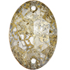 Swarovski 3210 Oval Sew-on Crystal Gold Patina 16x11mm