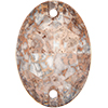 Swarovski 3210 Oval Sew-on Crystal Rose Patina 16x11mm