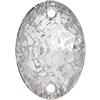 Swarovski 3210 Oval Sew-on Crystal Silver Patina 16x11mm