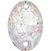 Swarovski 3210 Oval Sew-on Crystal White Patina 10x7mm