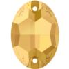 Swarovski 3210 Oval Sew-on Crystal Metallic Sunshine 10x7mm