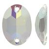 Swarovski 3210 Oval Sew-on Crystal AB Unfoiled16x11mm