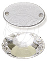 Swarovski 3212/2 Oval Sew-on Crystal 16x11mm