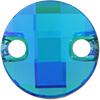 Swarovski 3220 Round Chessboard Sew-on Blue Zircon Glacier Blue 10mm