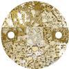 Swarovski 3220 Round Chessboard Sew-on Crystal Gold Patina 10mm