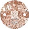 Swarovski 3220 Round Chessboard Sew-on Crystal Rose Patina 10mm