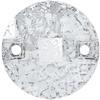 Swarovski 3220 Round Chessboard Sew-on Crystal Silver Patina 10mm