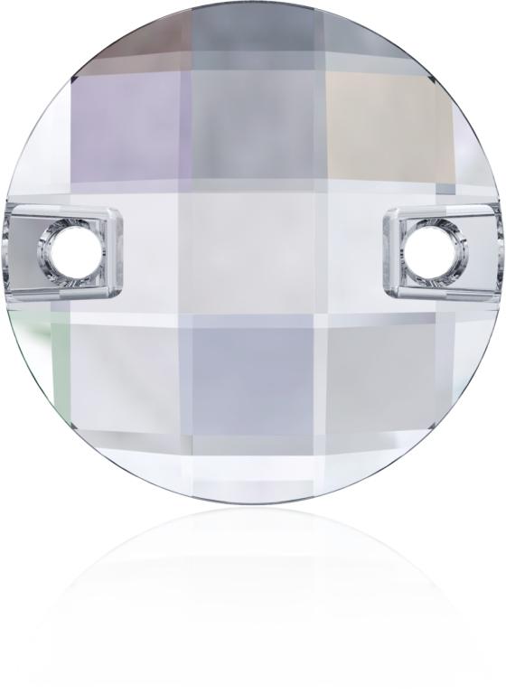 Swarovski 3220 Round Chessboard Sew-on Crystal AB 10mm