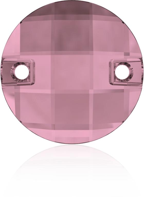 Swarovski 3220 Round Chessboard Sew-on Crystal Antique Pink 10mm