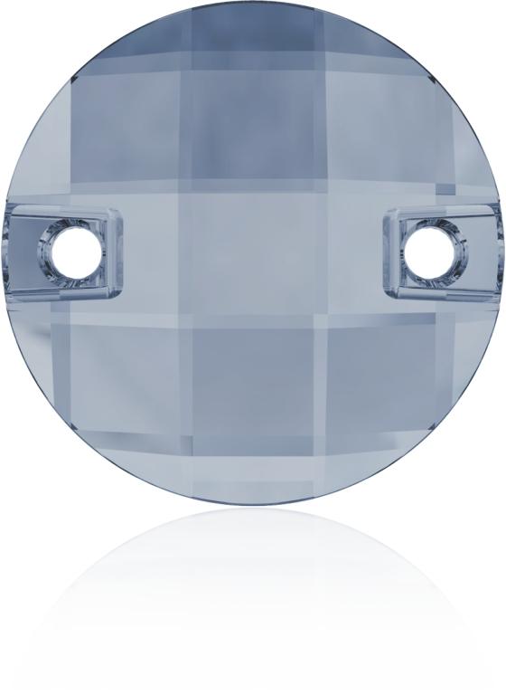 Swarovski 3220 Round Chessboard Sew-on Crystal Blue Shade 10mm
