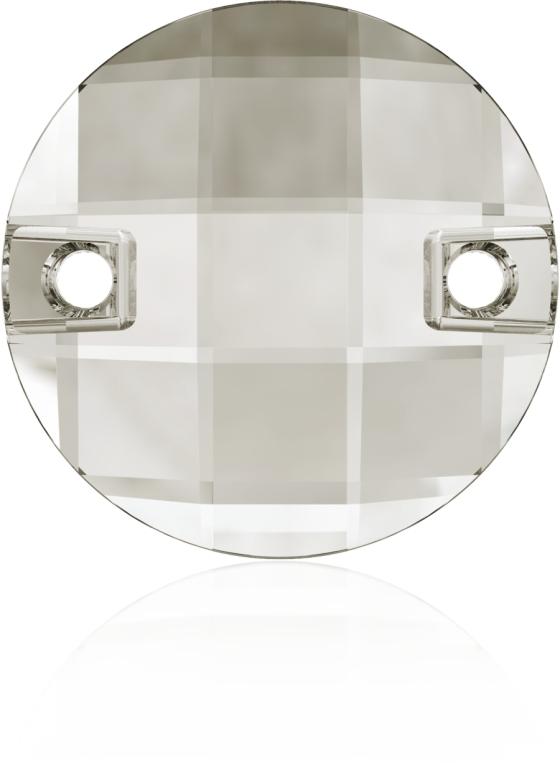 Swarovski 3220 Round Chessboard Sew-on Crystal Silver Shade 10mm