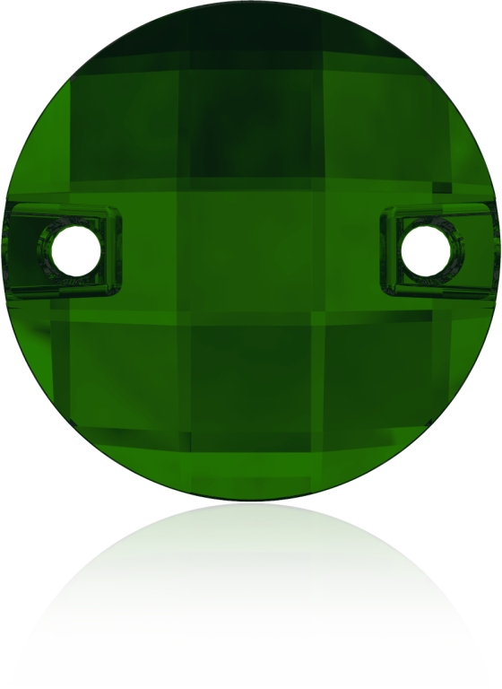 Swarovski 3220 Round Chessboard Sew-on Dark Moss Green 10mm