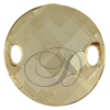 Swarovski 3221 Twist Sew-on Crystal Golden Shadow 28mm