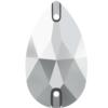 Dreamtime Crystal DC 3230 Pear Sew-on Crystal Light Chrome 12x7mm
