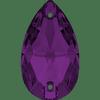 Dreamtime Crystal DC 3230 Pear Sew-on Amethyst 12x7mm