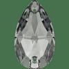 Dreamtime Crystal DC 3230 Pear Sew-on Crystal Silver Night 12x7mm