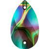 Swarovski 3230 Drop Sew-on Crystal Rainbow Dark 12x07mm