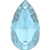 Swarovski 3230 Drop Sew-on Aquamarine 18x10.5mm