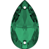 Swarovski 3230 Drop Sew-on Emerald 12x7mm