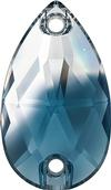 Swarovski 3230 Drop Sew-on Crystal-Montana Blend Unfoiled 18x10.5mm