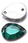 Swarovski 3232/2 Pear Shaped Sew-on Emerald 16x11mm