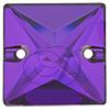 Swarovski 3240 Square Sew-on Crystal Heliotrope 22mm