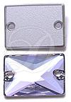 Swarovski 3250 Rectangle Sew-on Crystal Vitrail Light 18x13mm