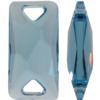 Swarovski 3251 Space Cut Sew-on Aquamarine Unfoiled 18x9mm