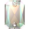 Swarovski 3252 Emerald Cut Sew-on Stone Crystal AB 14x10mm