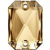Swarovski 3252 Emerald Cut Sew-on Stone Crystal Golden Shadow 14x10mm
