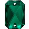 Swarovski 3252 Emerald Cut Sew-on Stone Emerald 14x10mm