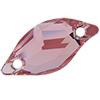 Swarovski 3254 Diamond Leaf Sew-on Light Rose 20x9mm