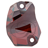 Swarovski 3257 Divine Rock Sew-on Crystal Red Magma 19x13mm