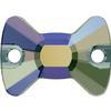 Swarovski 3258 Bow Tie Sew-on Crystal Paradise Shine 12x8.5mm