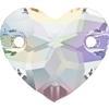Swarovski 3259 Heart Sew-on Crystal AB 12mm