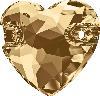 Swarovski 3259 Heart Sew-on Crystal Golden Shadow 12mm