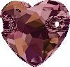 Swarovski 3259 Heart Sew-on Crystal Lilac Shadow 12mm