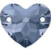 Swarovski 3259 Heart Sew-on Denim Blue 12mm