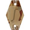 Swarovski 3261 Hexagon Sew-on Light Colorado Topaz 18mm
