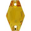 Swarovski 3261 Hexagon Sew-on Sunflower 28mm