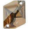 Swarovski 3265 Cosmic Sew-on Crystal Golden Shadow 20x16mm