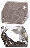 Swarovski 3265 Cosmic Sew-on Crystal Silver Shade 20x16mm
