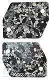 Swarovski 3265/B Cosmic Sew-on Marbled Black 20x16mm